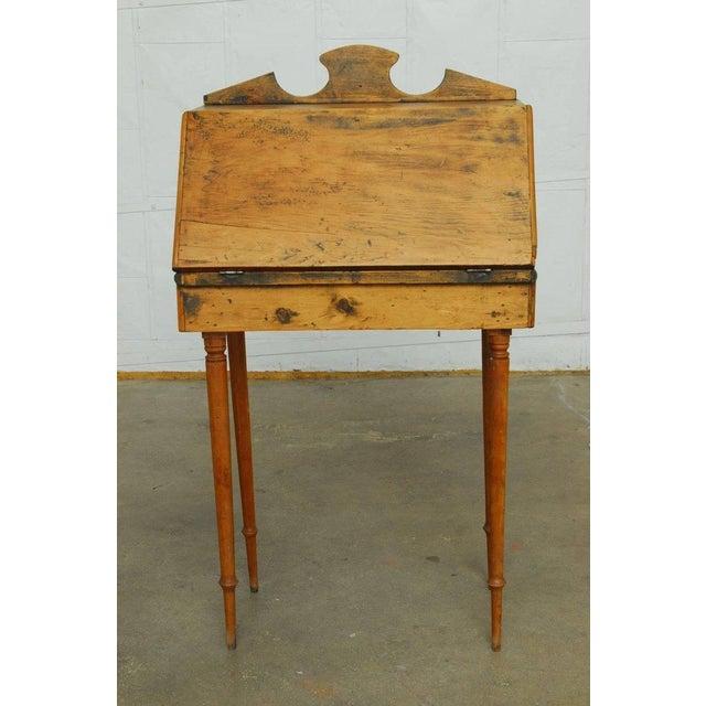 Tan 19th Century Diminutive Pine Slant Front Desk For Sale - Image 8 of 11