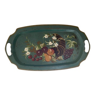Early 20th Century Vintage Hand Painted Tray For Sale