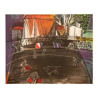 """1954 Raoul Dufy, """"Bullfight"""" First Edition Lithograph For Sale"""