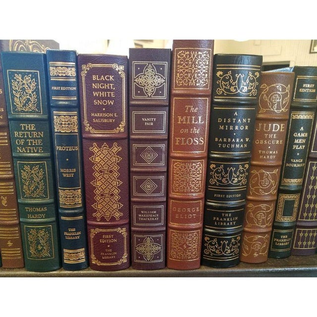 Collection of Franklin/Eaton Vintage Decorative Leather Books 40 Pieces. These books are leather-bound with gold gilt....