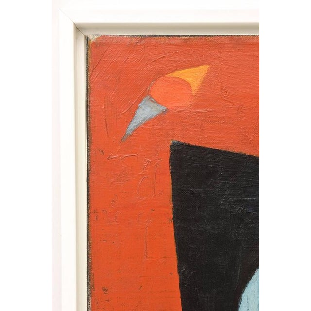 Signed Philip Perkins Vintage Cubist Painting - Image 6 of 9