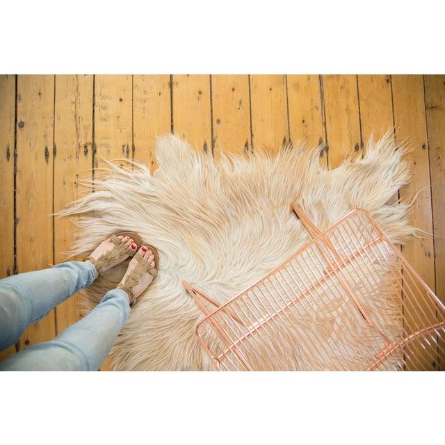 Angora Skin Rug - 2′6″ × 3′3″ - Image 3 of 5