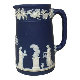 Wedgwood Blue Jasperware Jug/Pitcher For Sale
