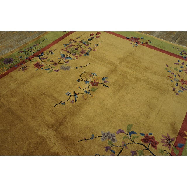 Textile Chinese Art Deco Rug For Sale - Image 7 of 8