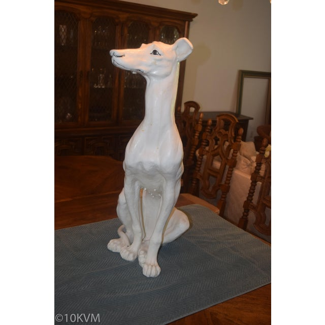 Vintage Ceramic Life Size Greyhound Dog For Sale In Columbia, SC - Image 6 of 12