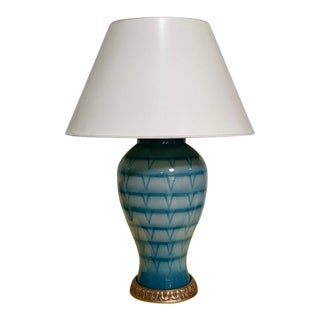 Bunny Williams Turquoise Lamp For Sale