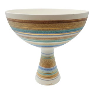 """Sascha Brastoff Mid Century Modern """"Original Abstract"""" Signed Footed Bowl/Compote For Sale"""