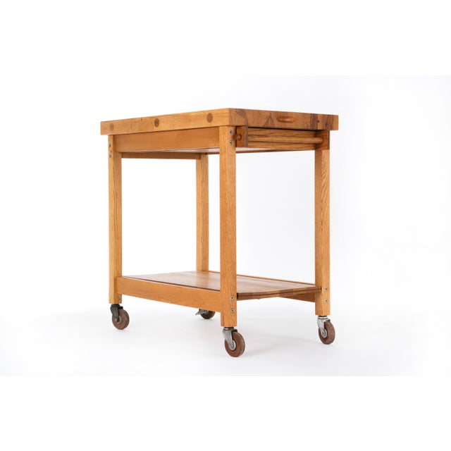 Mid-Century Modern Bill Saunders Chopping Block Utility Cart For Sale - Image 3 of 10