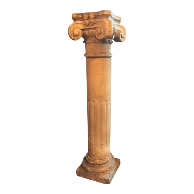 1940 French Cement Column For Sale