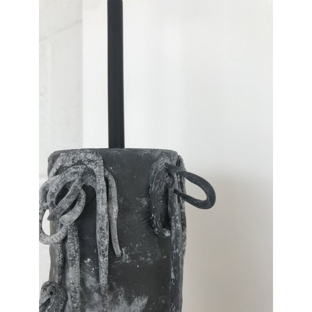 Contemporary Ingrid Surreal Clay and Steel Pendant Light by Zuckerhosen For Sale - Image 3 of 6