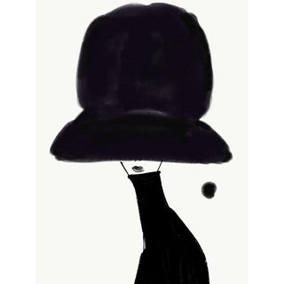 """Chapeau Noir"" Limited Edition Print by Annie Naranian For Sale"