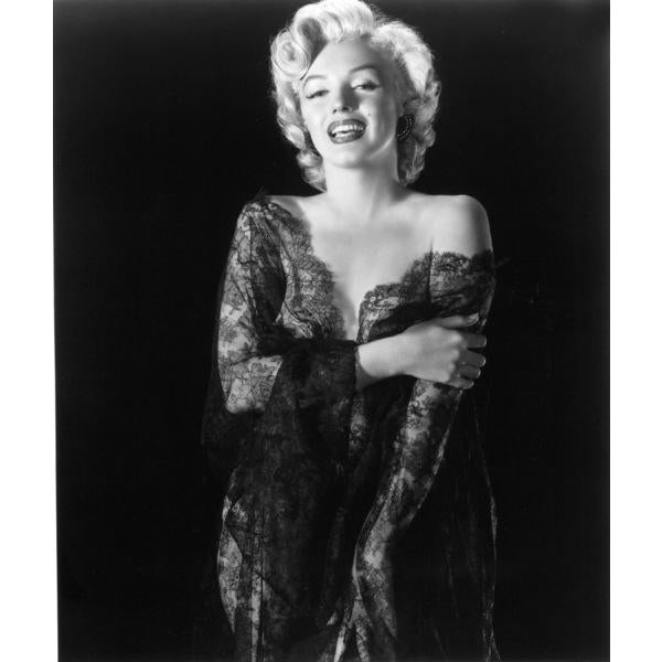 Beautiful and glamorous Marilyn Monroe in lacy lingerie, 1952. Photo by Frank Powolny. 11x14 print (unframed). Our fine...