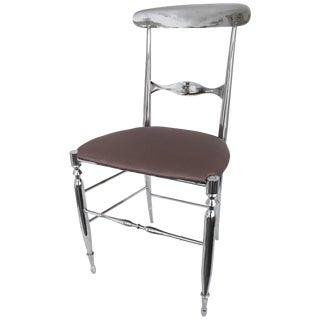 Italian Nickeled Chiavari Chair For Sale