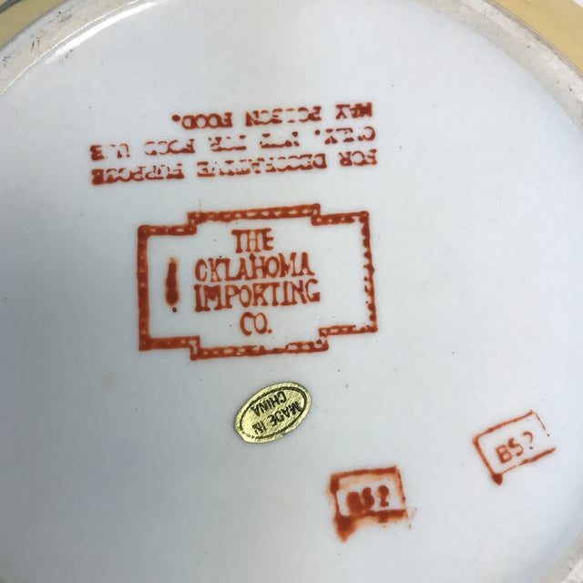 Vintage Oklahoma Importing Co. Porcelain Bowl With Lid For Sale - Image 5 of 7