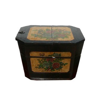 Oriental Rustic Rectangular Wood Box Bucket For Sale