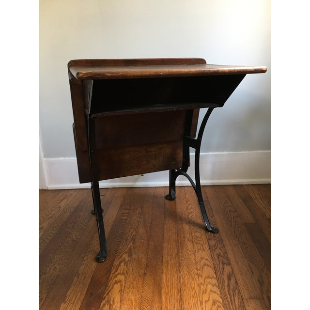 Children's 1916 Early American Heywood Wakefield School Desk For Sale - Image 3 of 9