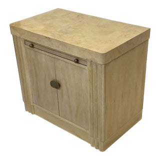 Vintage Contemporary Art Deco Hickory White Cabinet For Sale