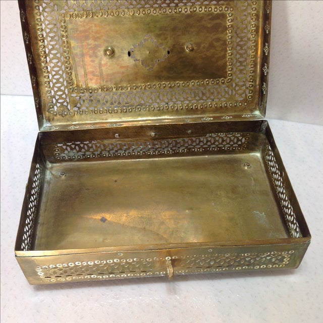 Ornate Vintage Hinged Brass Box - Image 7 of 10
