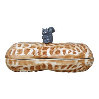 Ceramic Peanut & Squirrel Box