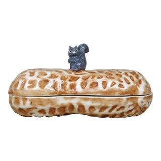 Ceramic Peanut & Squirrel Box