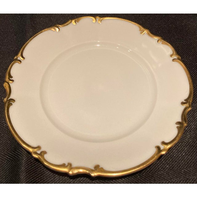 Vintage Hutschenreuther Brighton & Pasco Porcelain Bread & Butter Plates - Set of 12 For Sale - Image 10 of 13