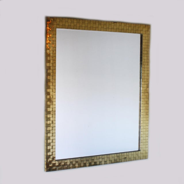 1970s 1970s Brass Woven Chapman Mirror For Sale - Image 5 of 5