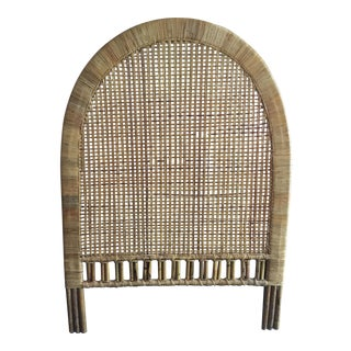 Vintage Wicker Twin Size Headboard For Sale