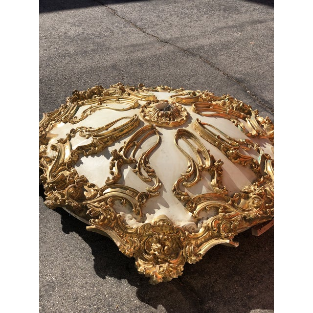 Louis XIV Modern Mohammad Hadid Estate Gold Leaf Ceiling Medallion For Sale - Image 3 of 13