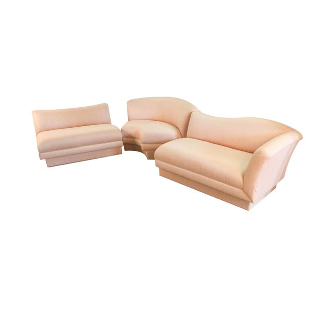 Cream Mid Century Vladimir Kagan Style for Directional Sectional Sofa For Sale - Image 8 of 12