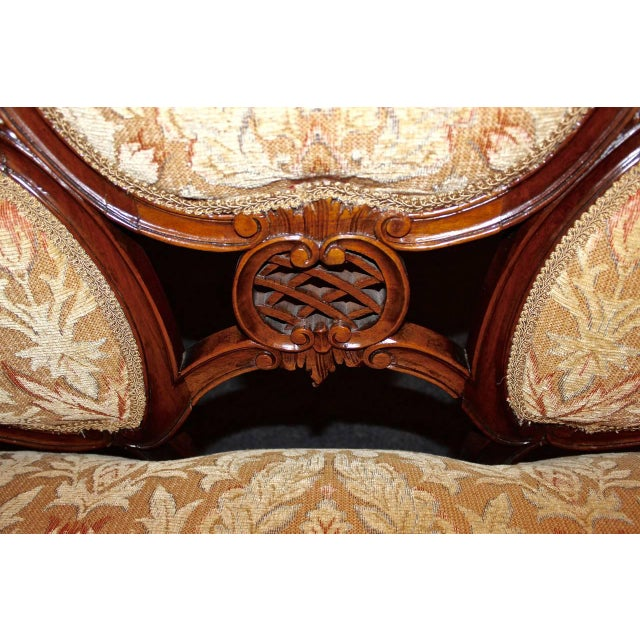 French Louis XV Walnut Settee For Sale - Image 4 of 9
