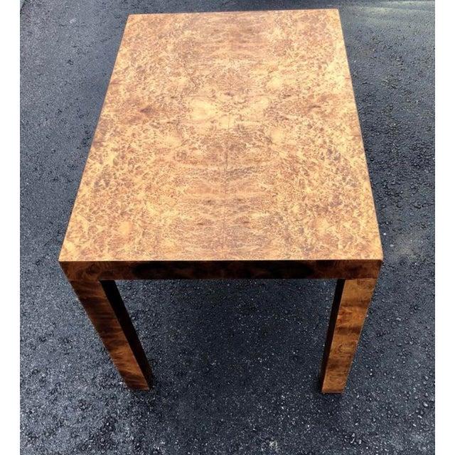 1950 S Vintage Milo Baughman Burl Wood Side Table Chairish