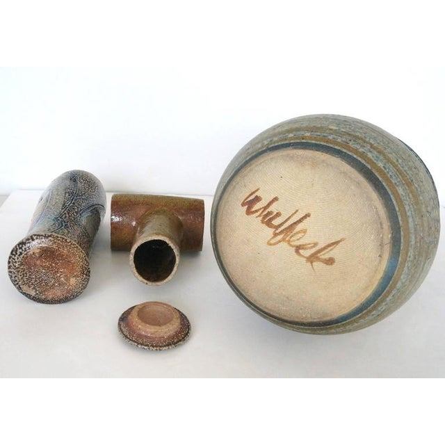 Ceramic Collection of Three Mid-Century Modern, Studio Art, Stoneware Pieces For Sale - Image 7 of 10