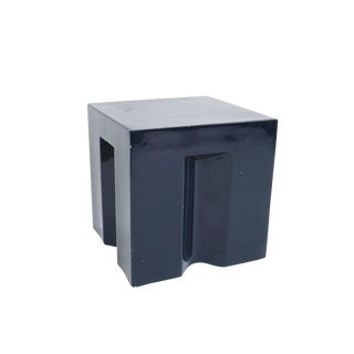 Early Prototype Coffee Side Table from Fiberglass Dark Blue, Italy, circa 1970 For Sale
