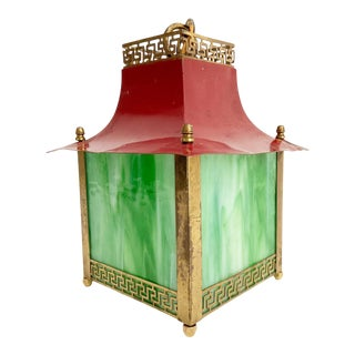 Chinoiserie Pagoda Pendant Light For Sale
