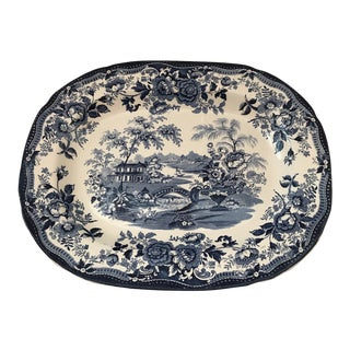 "1950s Vintage Royal Staffordshire Clarice Cliff ""Tonquin"" Platter For Sale"