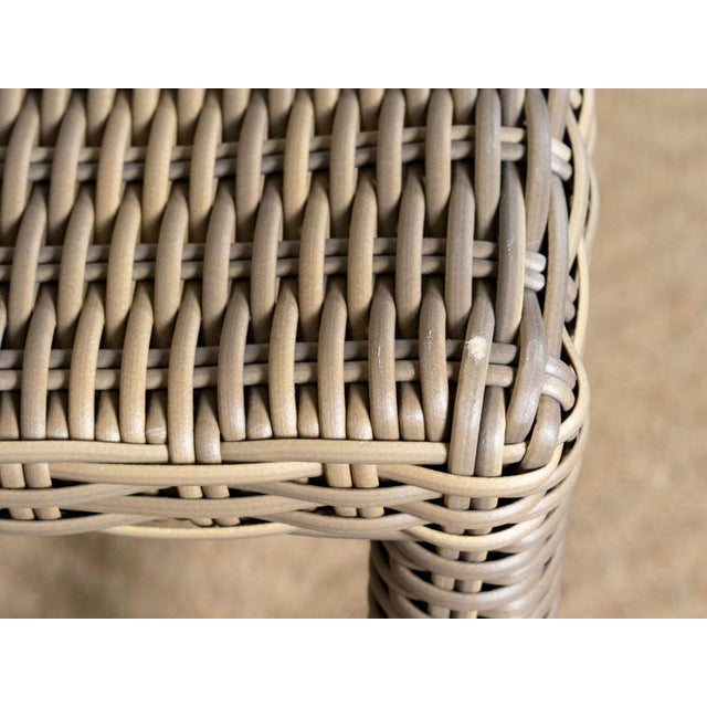 Modern New Outdoor Parsons Counter Stool in Driftwood For Sale - Image 3 of 6