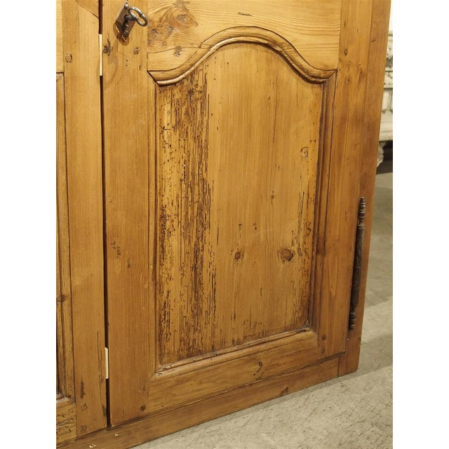 Brown Pair of Antique French Pine Cabinet Doors, 19th Century For Sale - Image 8 of 11