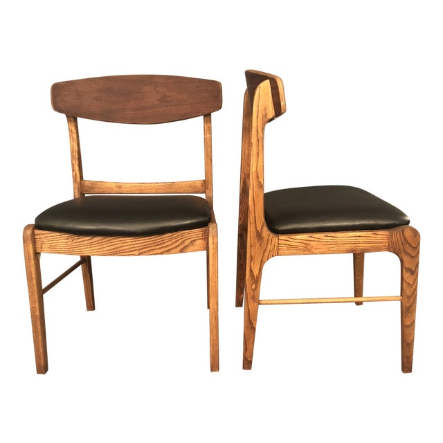 1960s Danish Modern Walnut Dining Chairs - a Pair For Sale