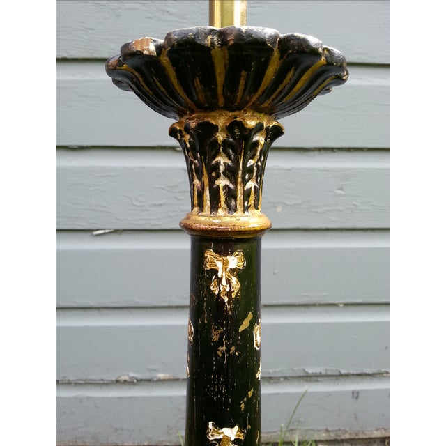 Italian Pricket Candlestick Lamps - A Pair For Sale - Image 4 of 9