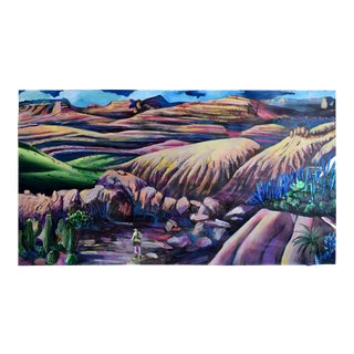 """Painted Desert Run"" Painting by Geoff Greene For Sale"