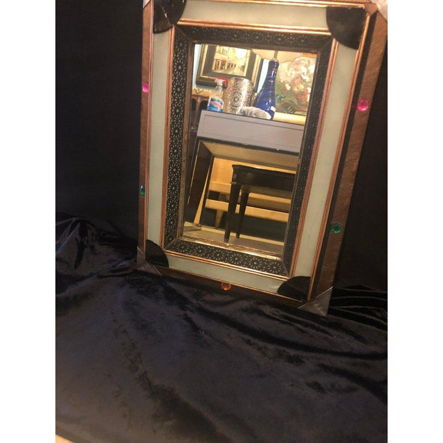 Art Deco Lighted Art Deco Moroccan Style Vanity Mirror or Wall Mirror For Sale - Image 3 of 13
