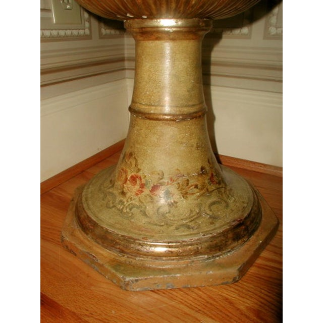 Picie Italian Hand Painted 19th C. Pedestal Table - Image 5 of 10