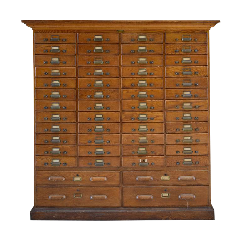 American Oak Multi Drawer File Cabinet Image