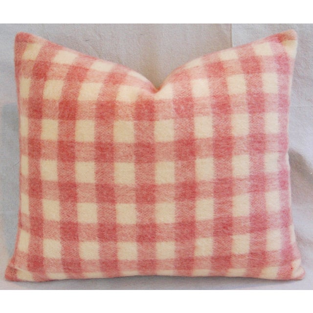 Scottish Plaid Wool & Velvet Down/Feather Pillow - Image 2 of 6