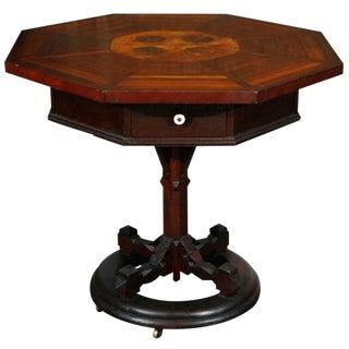 8-sided American Folk Art Table