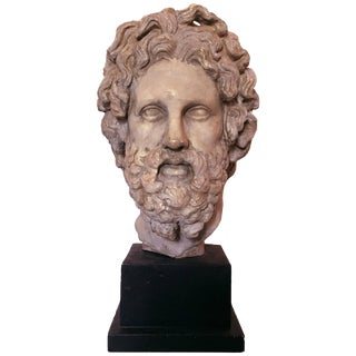 Mid-20th Century Hellenistic Bust of Asklepios by Alva Studios For Sale