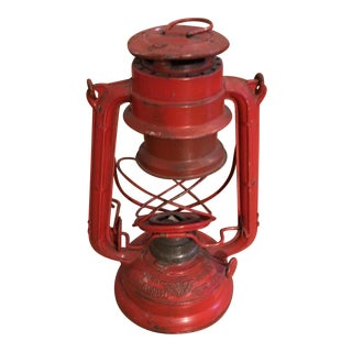 Vintage Railroad Red Metal Lantern