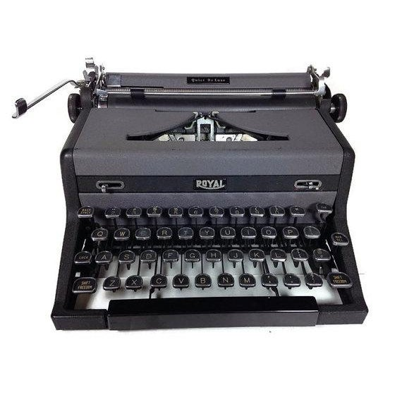 Vintage Royal Quiet DeLuxe Typewriter - Image 3 of 6