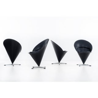 1960s Vintage Verner Panton Cone Chairs- Set of 4 Preview