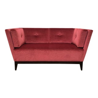 RJones Studio Walnut Finish Loveseat